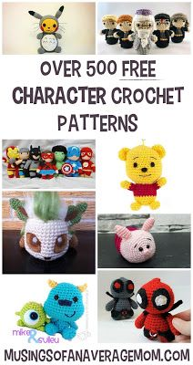 Top 50 Amigurumi Crochet Free Patterns | Disney crochet patterns ... | 400x212