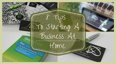 HOME-BASED BUSINESS: 8 Tips To Starting A Business At Home: http://www.athomewithnikki.com