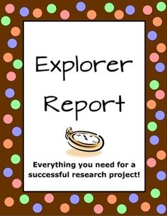 Explorer Reports are commonly assigned in 5th grade. This 14 page unit, by The Teacher Next Door, is aligned with the Common Core, and will help you guide your students to create meaningful, well-researched reports. $