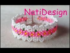 YouTube Bracelet Crafts, Jewelry Crafts, Handmade Jewelry, Beaded Bracelets Tutorial, Seed Bead Bracelets, Beading Projects, Beading Tutorials, Beaded Jewelry Patterns, Beading Patterns