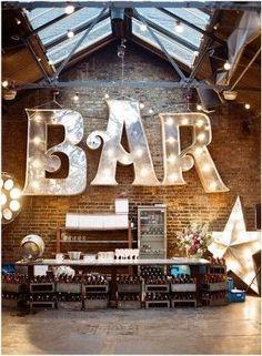 Rustic wedding bar wedding decor