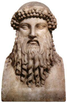 Mercury (Hermes), Roman herm (marble), copy after Greek original by Alcamenes, 1st-3rd century AD (original 5th c. BC), (The Hermitage, St Petersburg).