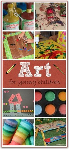 Art activities for toddlers and young children. Lots of fun ways to get kids creating!