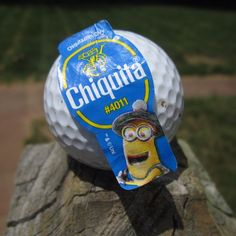 A golfing minion on a golf ball :) #stickaminiononit #week1 (Photo by jessgymnast_74)
