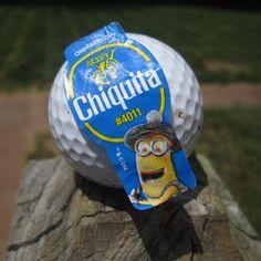 A golfing minion on a golf ball :) #stickaminiononit #week1 (Photo by jessgymnast_74)