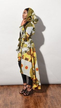 SPRING SALE African Mixed print dress Jacket African by RAHYMA