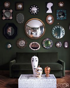 ELLE DECOR | Barnaba Fornasetti's Milan Home: Living Room