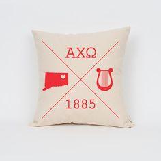 Alpha Chi Omega Icons Custom Pillow / ΑΧΩ / Sorority by Sororitee
