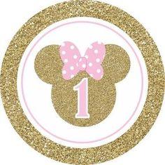 Decoration Minnie, Minnie Mouse Birthday Decorations, Minnie Mouse Theme Party, Minnie Mouse First Birthday, Mickey Party, 1st Birthday Girls, Mouse Parties, 1st Birthday Parties, Minnie Mouse Stickers
