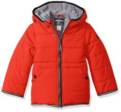 OshKosh B'Gosh Baby Boys Perfect Heavyweight Jacket Coat, Alexander red, * Have a look at this terrific product. (This is an affiliate link). Little Boy Outfits, Baby Boy Outfits, Kids Outfits, Boys Winter Jackets, Baby Girl Jackets, Oshkosh Baby, Oshkosh Bgosh, Kids Fashion Boy, Baby Winter