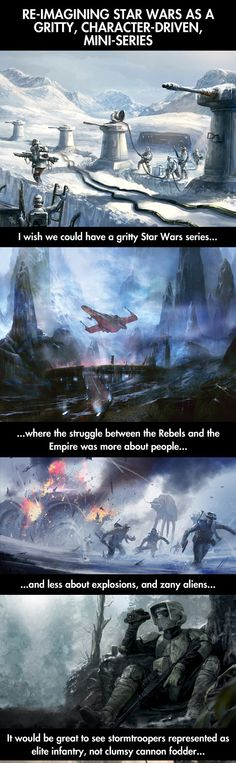 Re-imagining Star Wars. Really cool idea.  BTW-The picture is actually much longer than this.