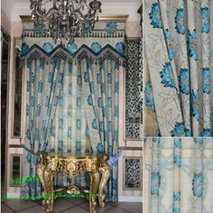 Home Textile Home Textile Curtain Design Gold quality luxury blue jacquard curtain dodechedron  blind window curtain-inCurtains from Home & ...