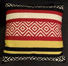 """I got two of these for the couch. World Market -- 20"""" square pillows I think"""