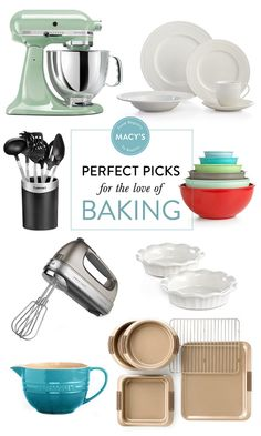 A perfect arsenal of Macy's equipment for all your #baking needs (including some great #recipes to try them out with!)