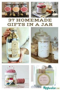 37 Recipes for Gifts In A Jar! Perfect for Christmas gifts or hostess party gift. - 37 Recipes for Gifts In A Jar! Perfect for Christmas gifts or hostess party gift. 37 Recipes for Gifts In A Jar! Perfect for Christmas gifts or host. Homemade Christmas Gifts, Homemade Gifts, Craft Gifts, Diy Gifts, Holiday Gifts, Christmas Diy, Christmas Gifts For Neighbors, Holiday Gift Baskets, Homemade Candles