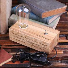 Edison-Lampe die Gravur personalisiert benutzerdefinierte