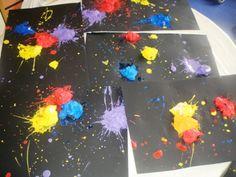 Simulació amb pintura del big bang