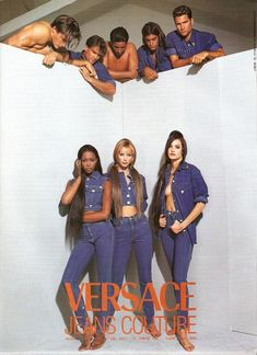 Versace Jeans Couture 1992 - Naomi Campbell, Christy Turlington & Claudia Mason by Bruce Weber