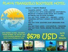 No olvides consultar por nuestros programas de estadía en Playa Tranquilo Hotel Boutique con programación de buceo y/o certificaciones PADI