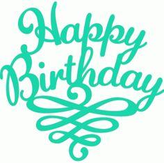 Silhouette Online Store - View Design #45996: happy birthday flourish