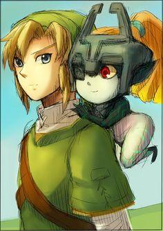 Minority Container ゼルダの伝説 - Link & Midna from Zelda: Twilight Princess
