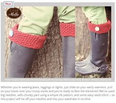 Mollie Makes Welly Warmers Tutorial