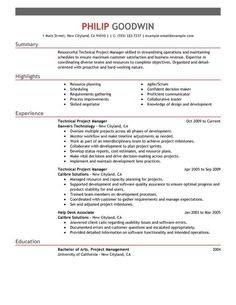 Sample Resume For Project Manager Sample Teacher Resume Page 1  Resume Examples  Pinterest  Resume .