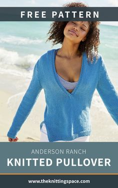 Enjoy a light and easy top that's perfect for either spring or summer and make this Anderson Ranch Knitted Pullover. It's a hooded pullover with low V neckline which pairs easily with your ensemble. Plus, it's an easy pattern to knit, ideal for advancing beginners to work on. | Discover over 5,500 free knitting patterns at theknittingspace.com Poncho Knitting Patterns, Knitted Poncho, Free Knitting, Knitting Ideas, Summer Knitting Projects, Lion Brand Yarn, Ranch, Free Pattern, Knit Crochet