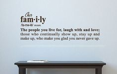 Definition of Family Vinyl Wall Decal by CreativeExpressionsz