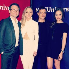 The motley crew of #MrRobot      Getting close and personal