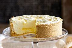 """Lemon ripple cheesecake """"Possibly the best cheesecake recipe I've ever made - and I've made a lot!"""" comment by reviewer."""
