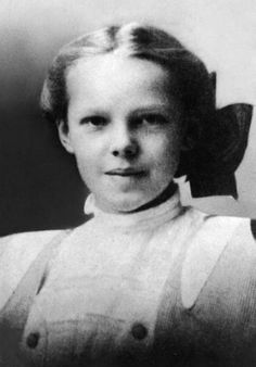 A very young Amelia Earhart.