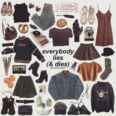 different aesthetic fashion Grunge Outfits, Grunge Fashion, Look Fashion, 90s Fashion, Fashion Outfits, Celebrities Fashion, Fashion History, Fitness Fashion, Retro Fashion
