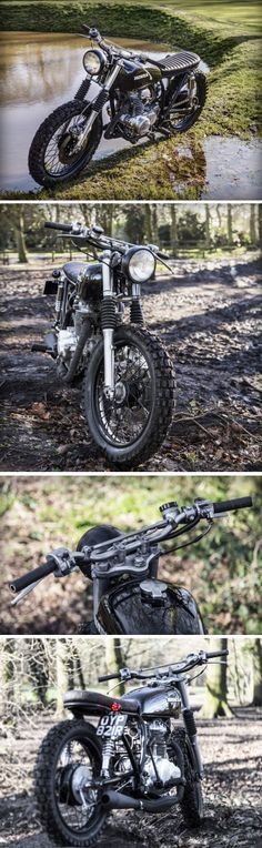 Honda Scrambler by The Bike Shed Honda Scrambler, Moto Bike, Cafe Racer Motorcycle, Tracker Motorcycle, Blitz Motorcycles, Honda Motorcycles, Vintage Bikes, Vintage Motorcycles, Cafe Racers