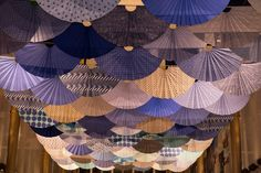 Fantasy in Japan Blue, Kennedy Center - Studio Adrien Gardère - Reiko Sudo Art Pass, Japanese Artwork, Restaurant Interior Design, Japanese Restaurant Interior, New Years Decorations, Japanese Textiles, Exhibition, Display Design, Paper Fans