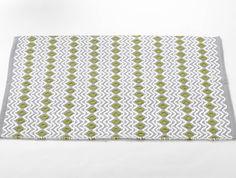 Gray / Green Tea Wave Rug
