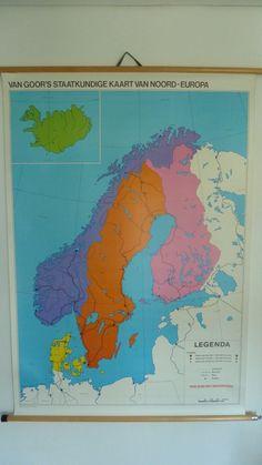 Grote landkaart Noord-Europa