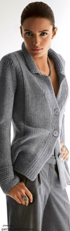 Grey is more gentle of a neutral than black...and as sophisticated and elegant.