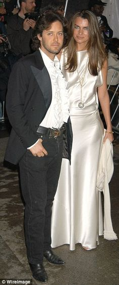 Relationship history: David and Lauren met at the Met Gala in 2004 when Lauren was just 19. David posed with modelFilippa Hamilton at the event in 2004 (pictured)