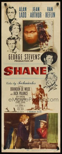 Shane Alan Ladd Jean Arthur Van Heflin -Watch Free Latest Movies Online on timetogetone. Old Movie Posters, Classic Movie Posters, Original Movie Posters, Cinema Posters, Movie Poster Art, Classic Movies, Cinema Cinema, Old Movies, Vintage Movies