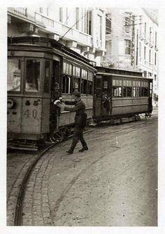 Thessaloniki town, Macedonia, Greece Macedonia Greece, Thessaloniki, My Town, Nymph, Public Transport, Old Photos, Transportation, The Past, Greek