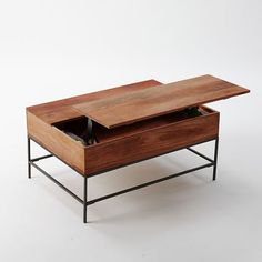 Storage Coffee Table WalnutAntique Brass Love The Functionality - West elm lift up coffee table