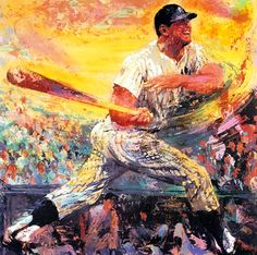 """Mickey Mantle"" serigraph by LeRoy Neiman"
