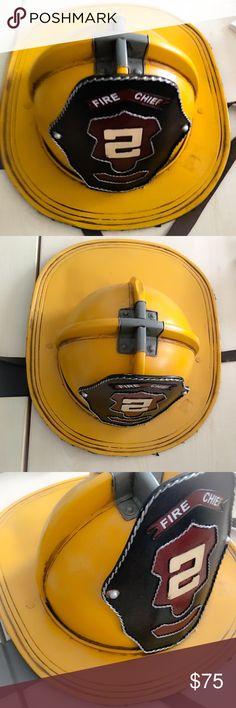 Firefighter Fireman Metal Hat Firefighter Metal Hat Halloween Costume : very good quality Accessories Hats