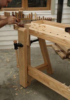 Leg Vice on the Little John Workbench