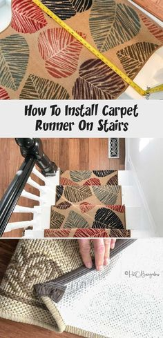 DIY Tutorial on how to install carpet runner on stairs and wood steps with or wi. DIY Tutorial on how to install carpet runner on stairs and wood steps with or without adding stair Staircase Carpet Runner, Wood Staircase, Carpet Stairs, Textured Carpet, Patterned Carpet, Best Carpet, Diy Carpet, Wood Steps, Outdoor Carpet