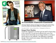 Kangen water in GQ magazine....how awesome is that