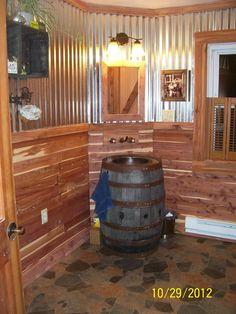 Amazing barndominium floor plans for your best home 41 ⋆ masnewsclub House Design, House, Rustic Bathroom Designs, Home, Remodel, Rustic Cabin, Rustic Bathrooms, Bathroom Design, Rustic House