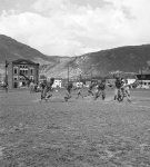 An early football game in Wagner Park. We just can't help ourselves to this wonderful patch of grass. Thanks, Aspen Historical Society. Aspen Mountain, Aspen Colorado, Ahs, Historical Society, Thankful, Football, History, Film, Image