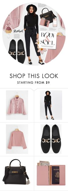 """""""Body and soul #Romwe V"""" by juhh ❤ liked on Polyvore featuring Royce Leather, Casetify, Post-It, romwe, fashiontrend and Juliajulian"""